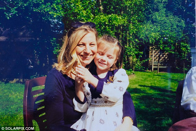 Rebecca is pictured here in 1998 with her daughter Chloe, then 4. After Rebecca found out about Marc