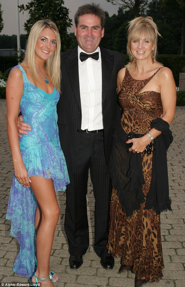 Sports presenter Richard Keys, 59, was accused of having an affair with lawyer Lucie Rose, a friend of his daughter Jemma, 31. Pictured, Richard with Jemma (left) and wife Julia (right).He has now broken his silence to claim he is not splitting from his wife despite